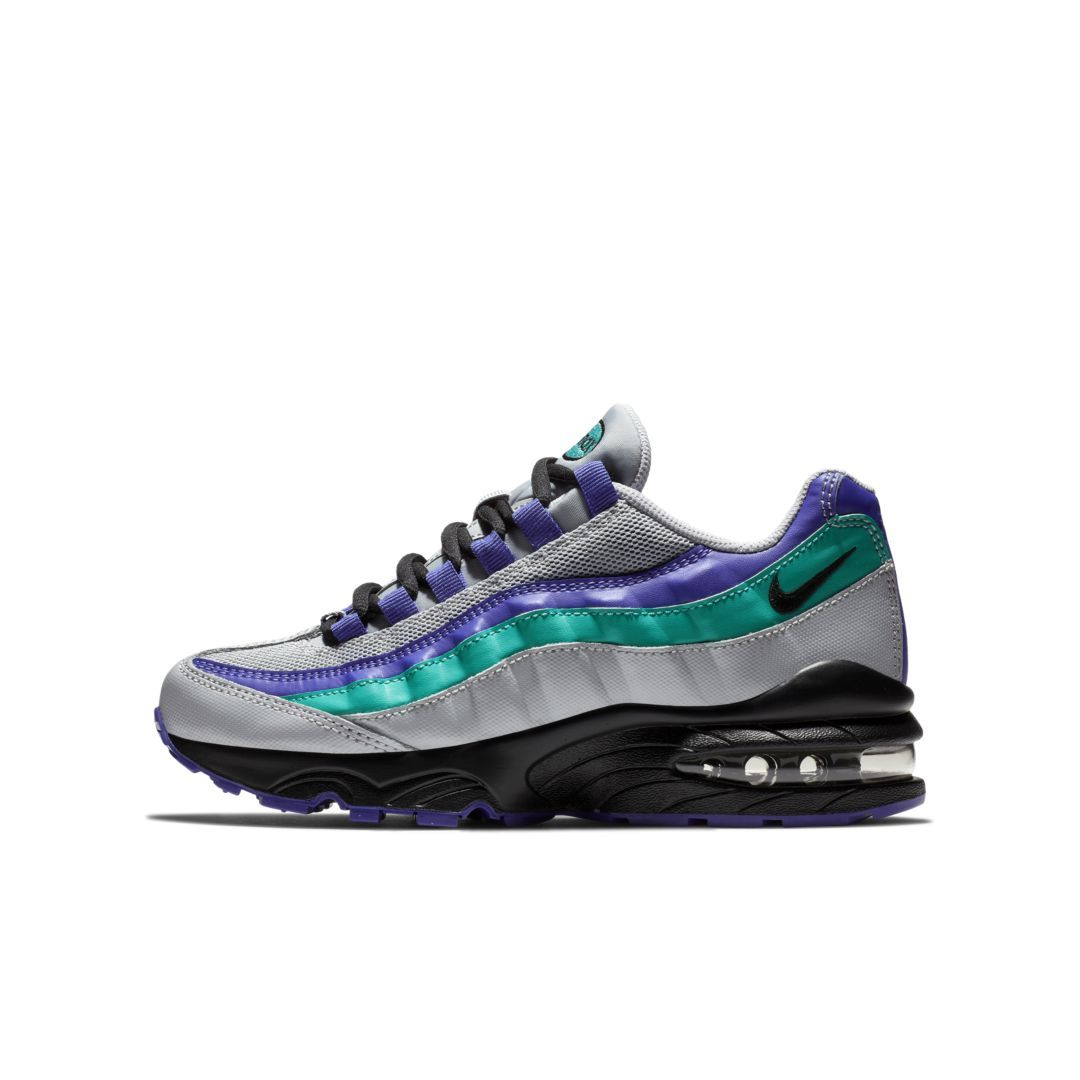 9bdde6fa0dbd Nike Air Max 95 Big Kids  Shoe Size 6Y (Wolf Grey)