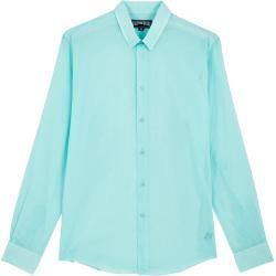 Photo of Pap Unisexe Adulte – Unisex Solid Hemd aus Baumwollschleier – Hemd – Caracal – Blau – M – Vilebrequi