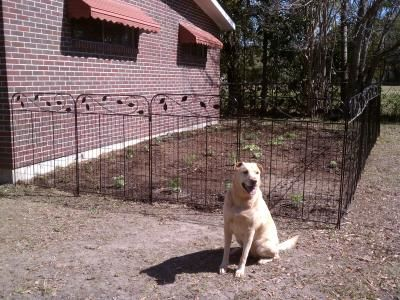 Lowe S No Dig Black Powder Coated Steel Fence Panel