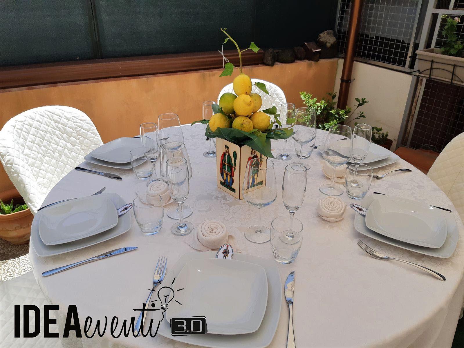 Segnaposto Matrimonio Tema Sicilia.Allestimento E Apparecchiamento Tavoli Tema Sicilia Scandito Dal