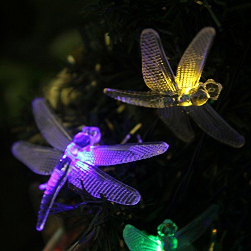 Nice InnooTech 20 Dragonfly Patio Lights Solar Powered String Lights For  Outdoor, Garden, Lawn,