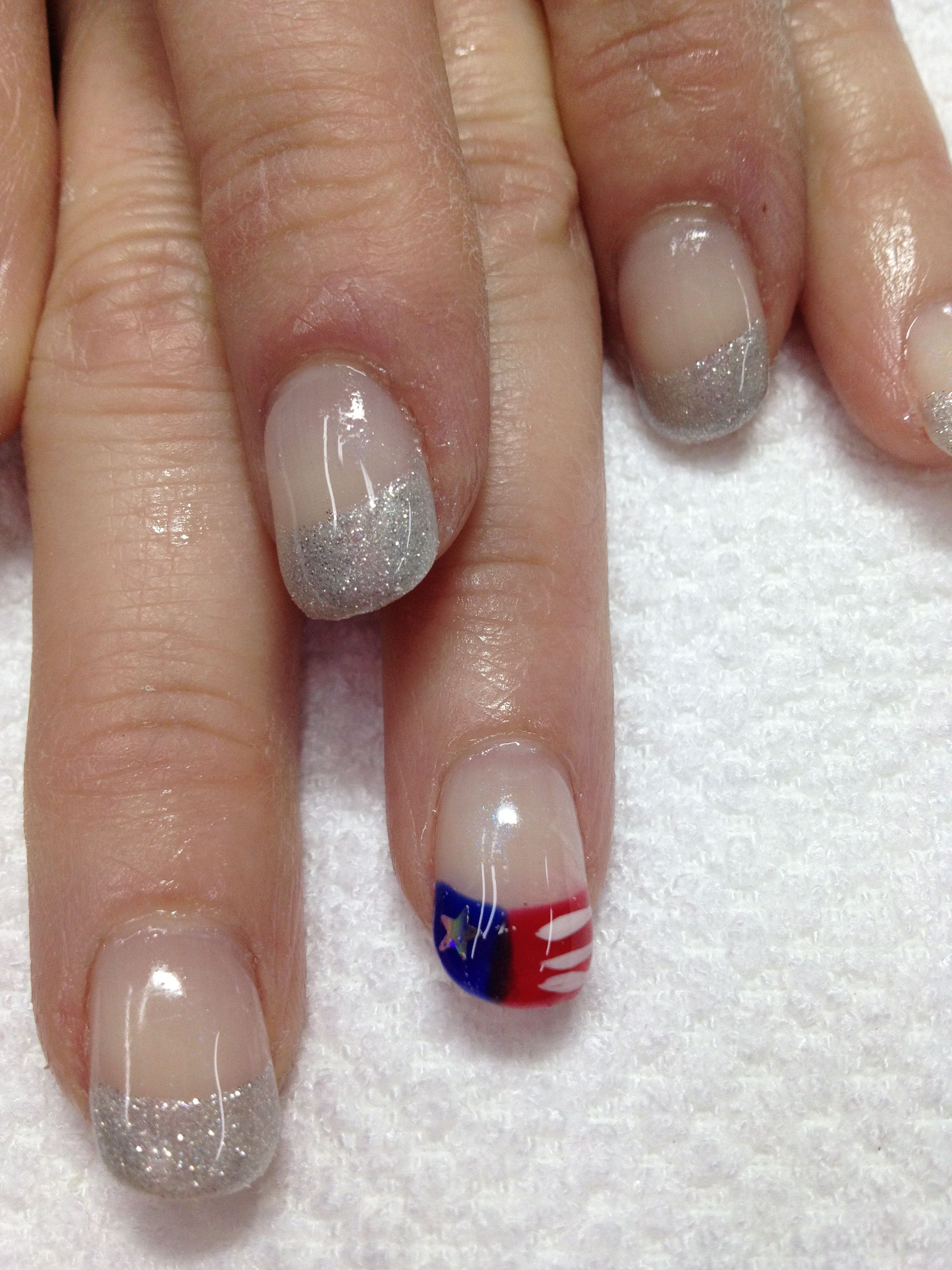 Fun 4th of July organic gel nails!! How cute are they!! | Gel Nail ...