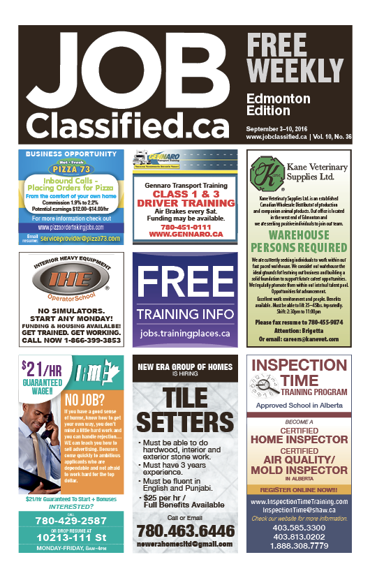 #JobClassified #Edmonton has the #job leads you need to succeed! Pick up your #free issue! http://www.jobclassified.ca/issues/jobclassifiededmontonedition/index.html