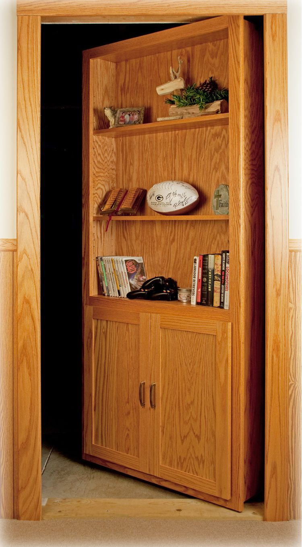 The Murphy Door  Hidden Door Bookshelf! OMG! Behind Mine Would Be A Secret
