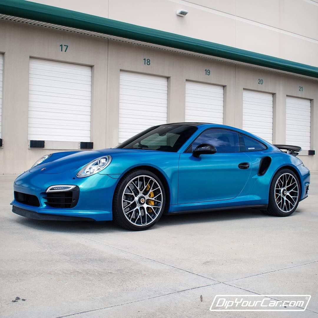 Paint your car in a garage in 1 hour dip your car youtube -  991 Turbo S Dipped Bora Bora Blue By Dipyourcar Video On Youtube