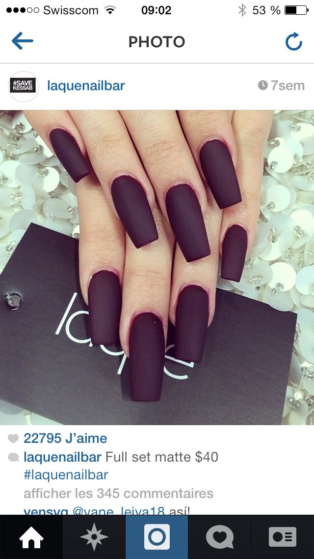 60 Simple Matte Nail art Designs for Beginners   Maquillaje, Uña ...