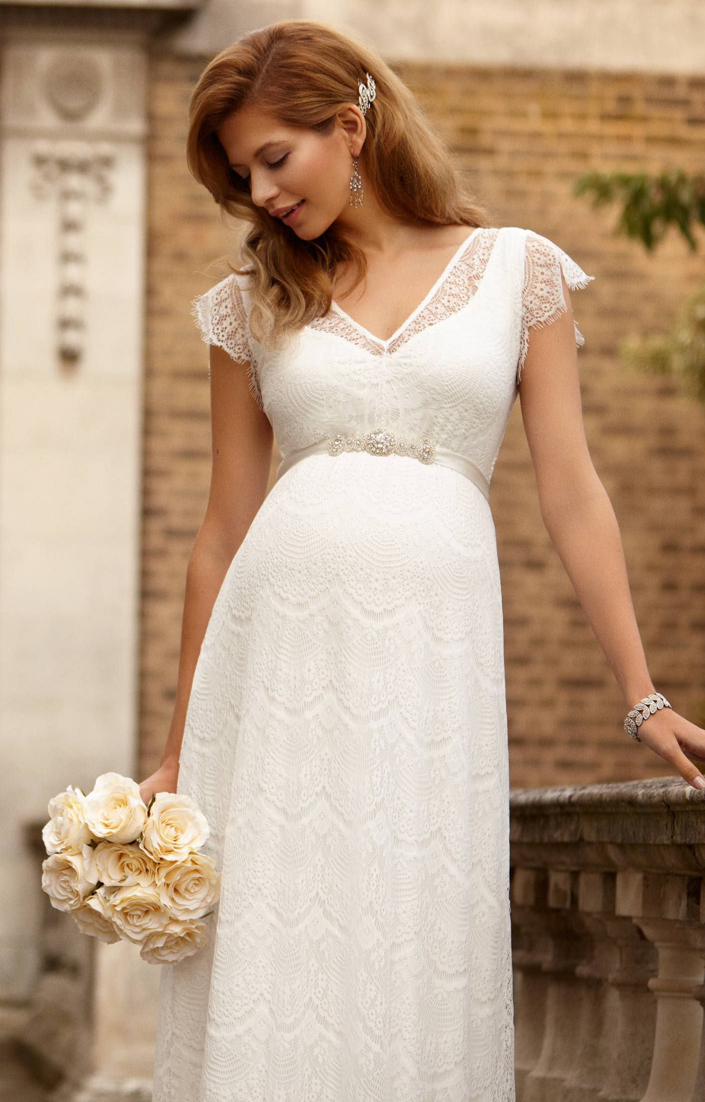 Maternity dresses for weddings  Kristin Abendkleid Lang  Gowns Bridal collection and Weddings