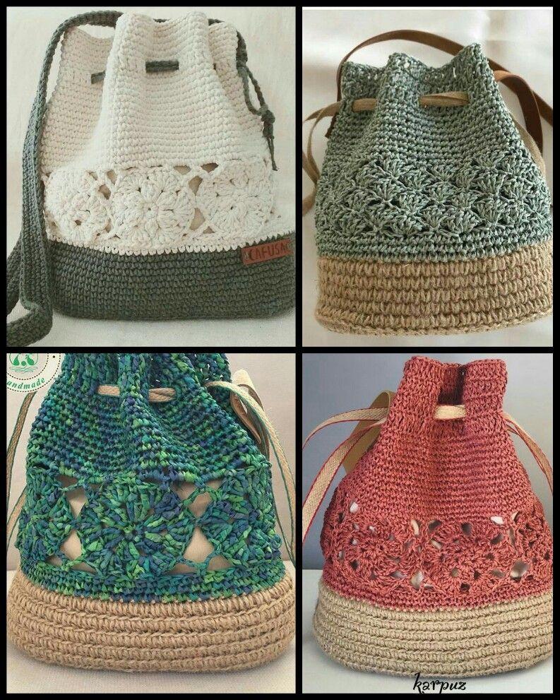 Toque na imagem para aprender crochê passo a passo e ter acesso a gráficos exclusivos - #crochê #artesanato #croche #graficosdecroche #feitoamao #backpacks