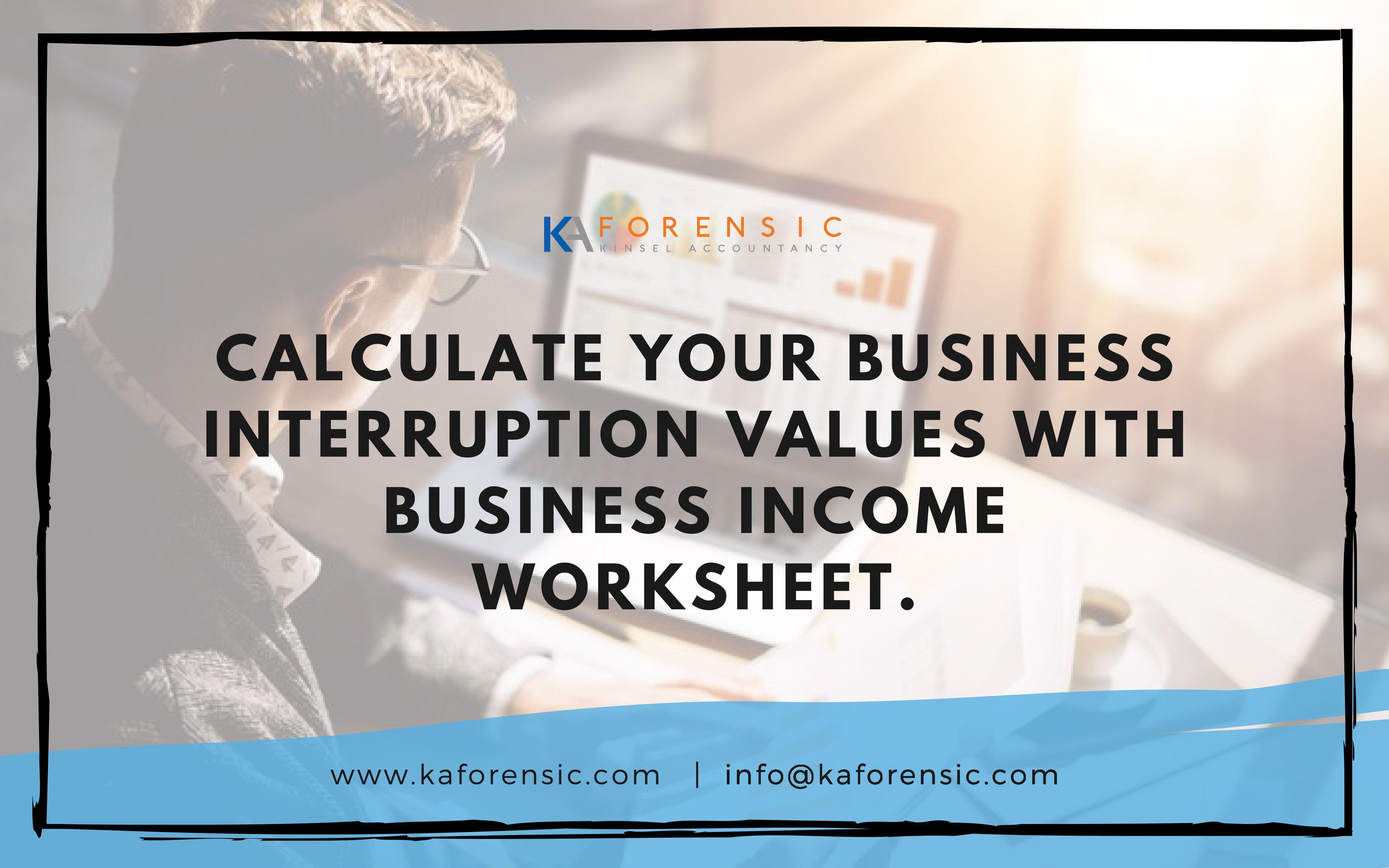 Business Interruption Worksheet