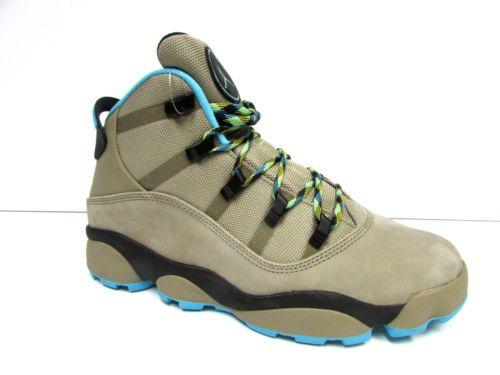 3e7e958a37f834 Men s Jordan Winterized 6 Rings Boots Khaki Gamma Blue-Black-Varsity Maize .