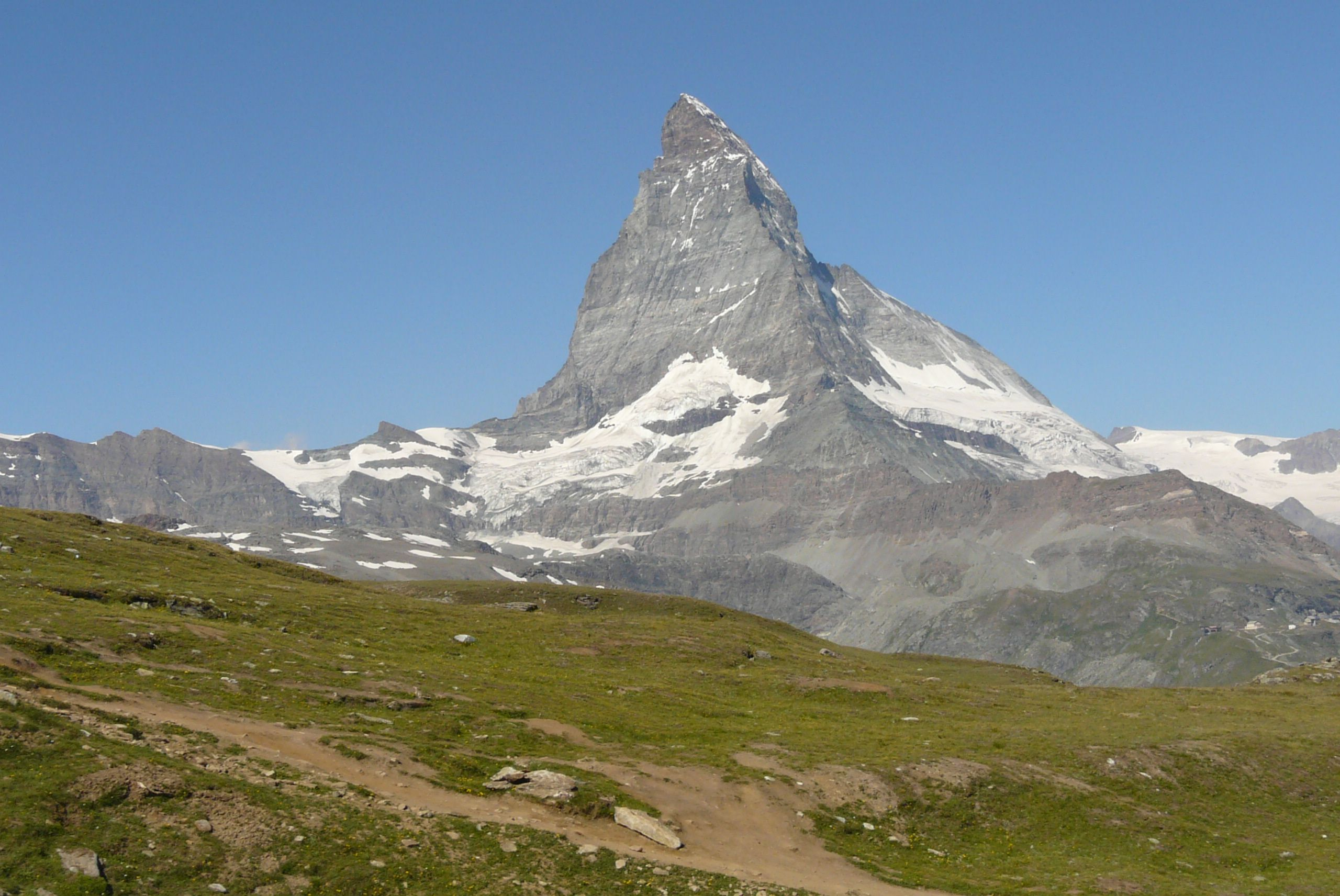 Breithorn VS Zermatt Berge Kanton Wallis Schweiz Schnee