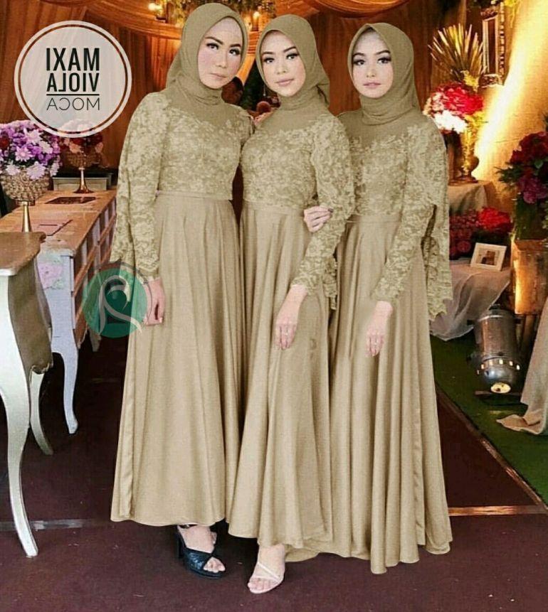 37 Design Model Baju Bridesmaid Hijab Ragam Muslim Pakaian Wanita Bunga Pakaian Pengiring Pengantin Pakaian Pesta