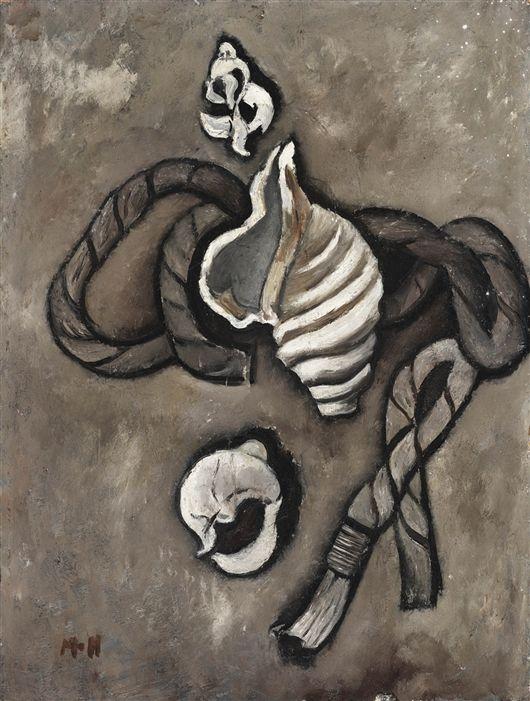 Still Life Rope And Shells Marsden Hartley Art Painting