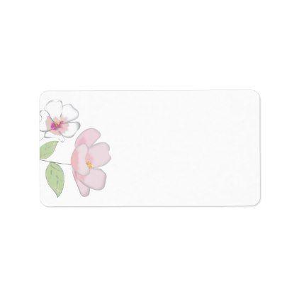cherry blossoms blank address labels floral pinterest cherry