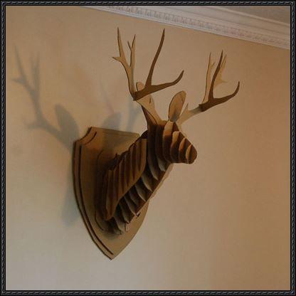 Another cardboard deer head wall hanging template and tutorial another cardboard deer head wall hanging template and tutorial pronofoot35fo Gallery