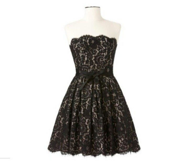 pretty black lace and neckline and the waist is really pretty with the sash -- My winter formal dress <3