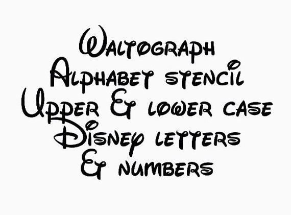 Disney Waltograph Stencil Font Full Alphabet Upper And Lower