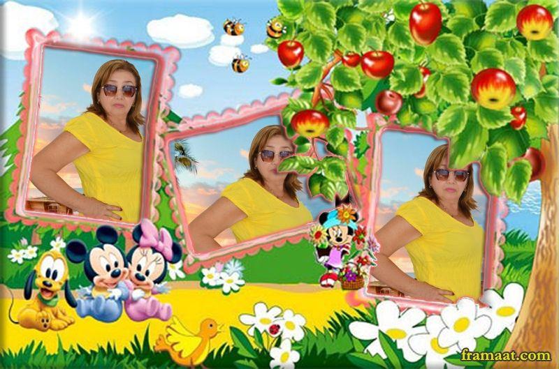 ضع صورتك فى 3 اطارات مع ميكى ماوس اطارات الصور فريمات