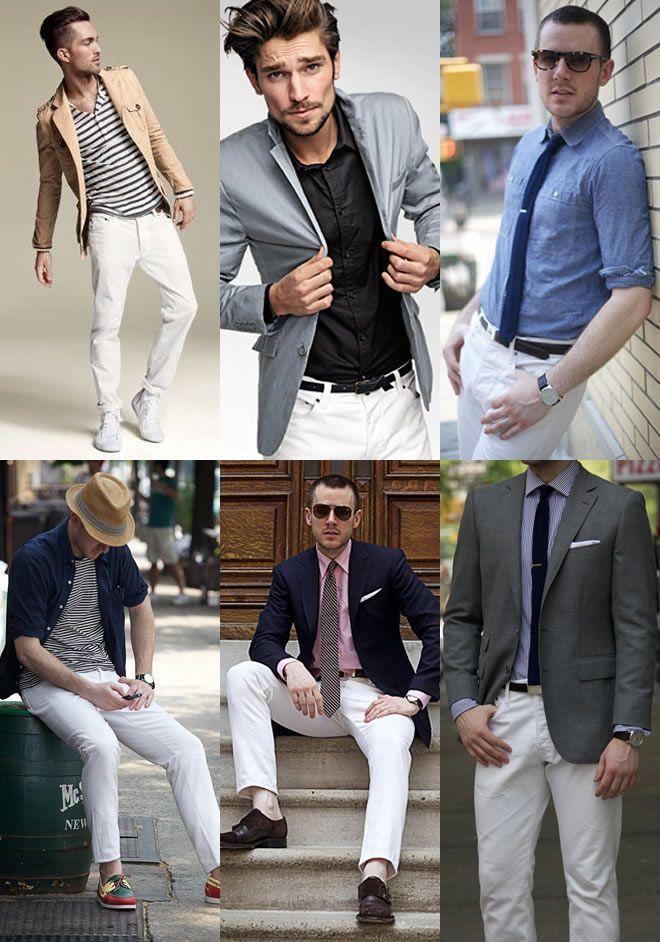 Men's White Denim Lookbook | S/S Wardrobe Inspiration | Pinterest ...