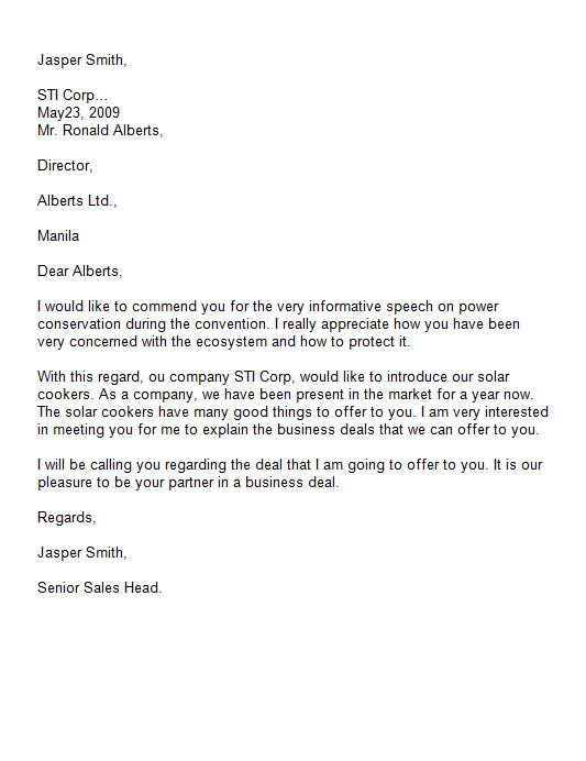 introduction letter template sample business writing professional - letter of introduction sample
