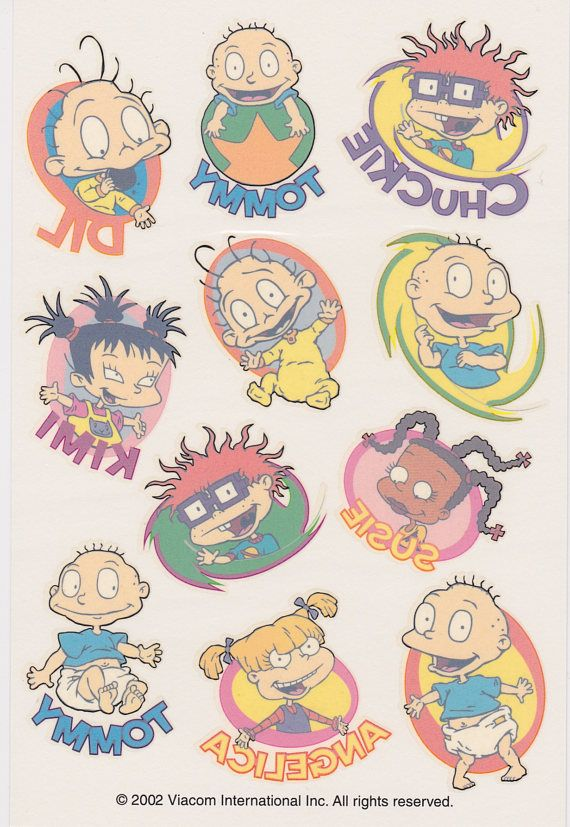 Collectible nickelodeon rugrats temporary tattoos officially collectible nickelodeon rugrats temporary tattoos officially licensed 2002 stickety doo da american greetings m4hsunfo