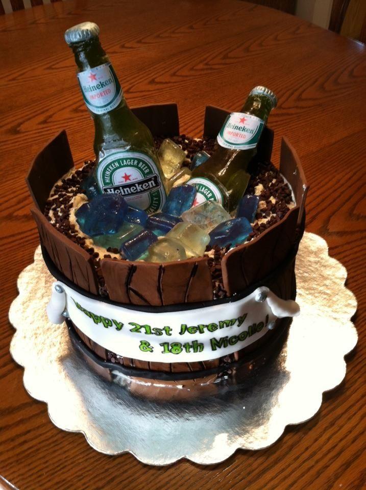 21st Birthday Cake The cake I made for my boyfriends 21st