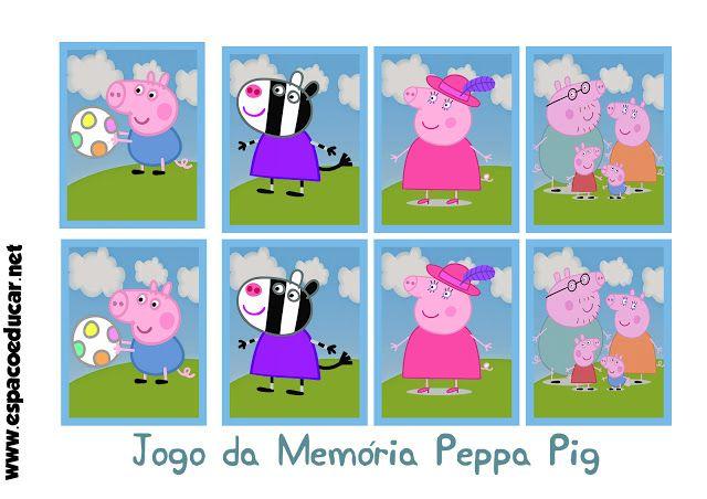 Jogo Da Memoria Peppa Pig Para Imprimir E Brincar Espaco Educar