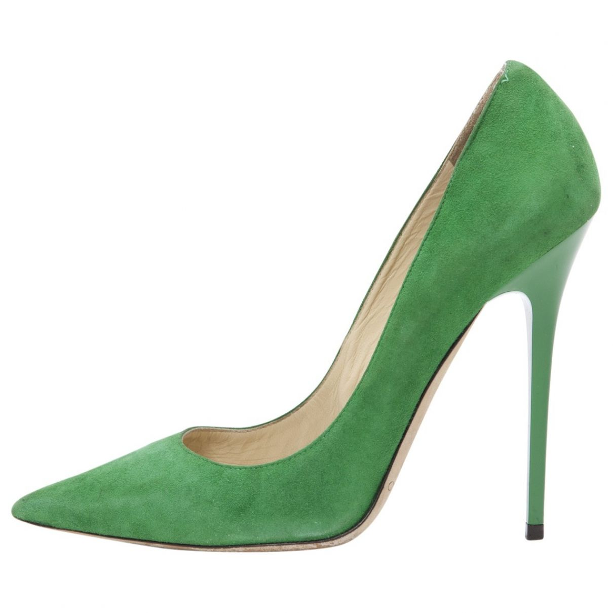 JIMMY CHOO Green Suede Heels | Vestiaire Collective