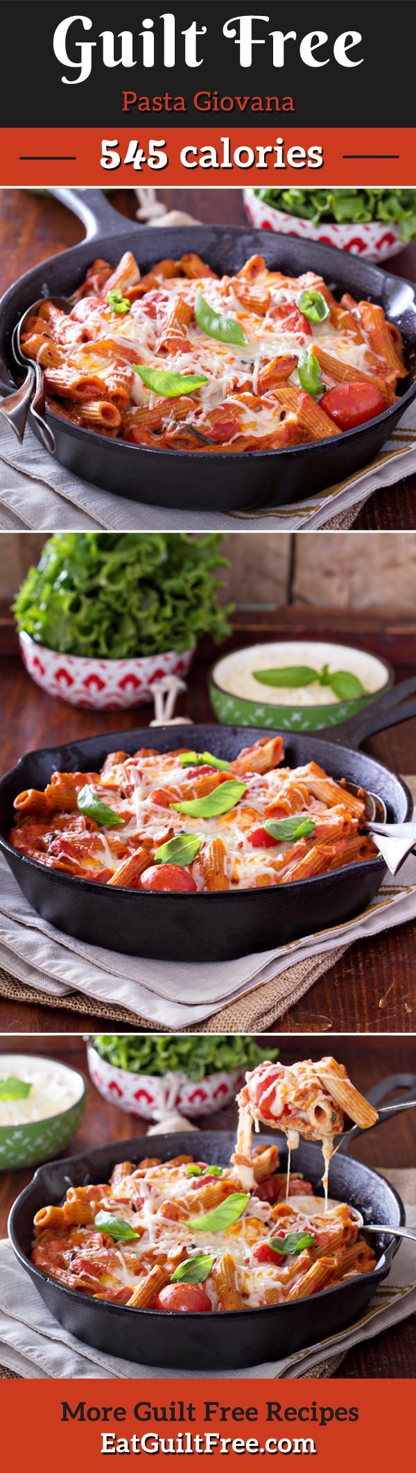 Guilt free #pasta Giovania recipe with homemade marinara sauce and melted mozzarella cheese.