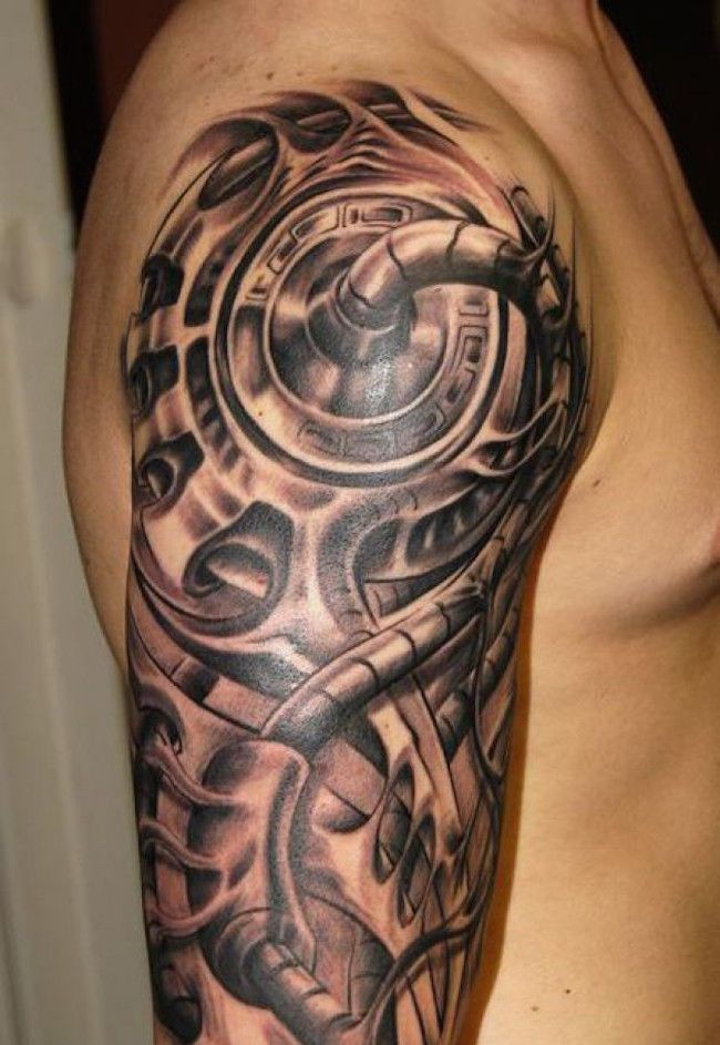 25 Amazing Biomechanical Tattoos Design Biomechanical Tattoo Biomechanical Tattoo Design Cyborg Tattoo