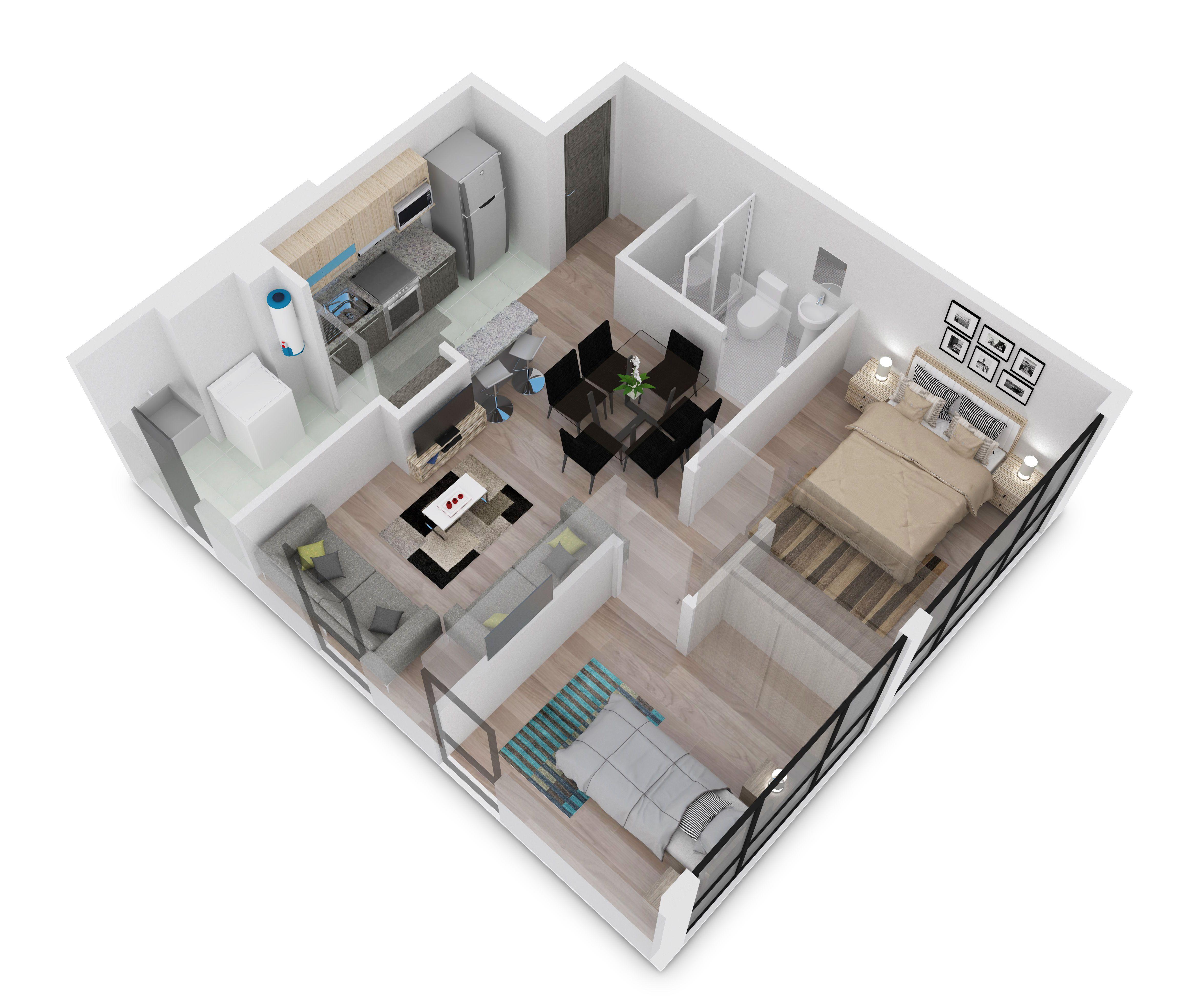 Prototipo prestige de 55 mt2 2 rec maras 1 ba o completo for Que altura de piso es mejor para vivir