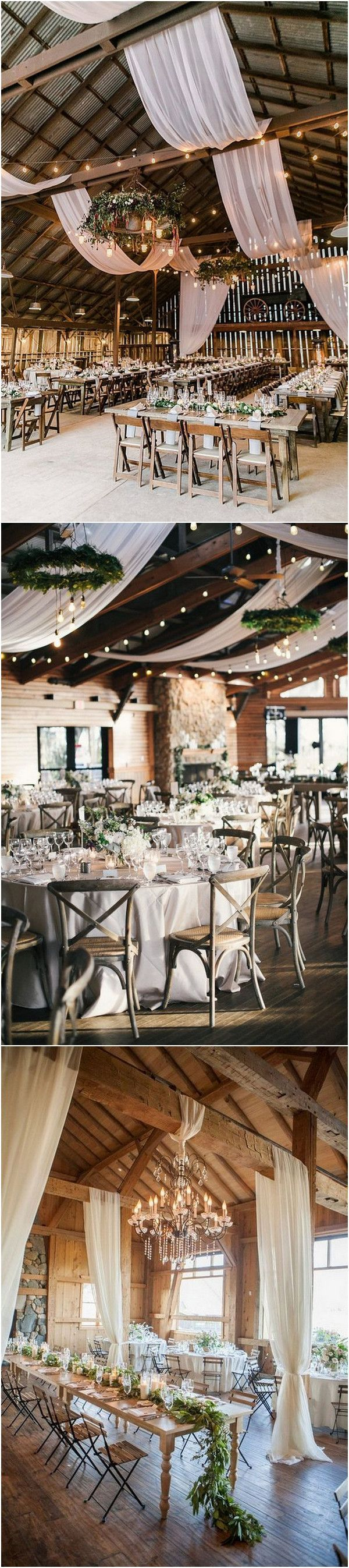 20 Chic Rustic Barn Wedding Reception Ideas to Love - Oh Best Day Ever #barnweddings
