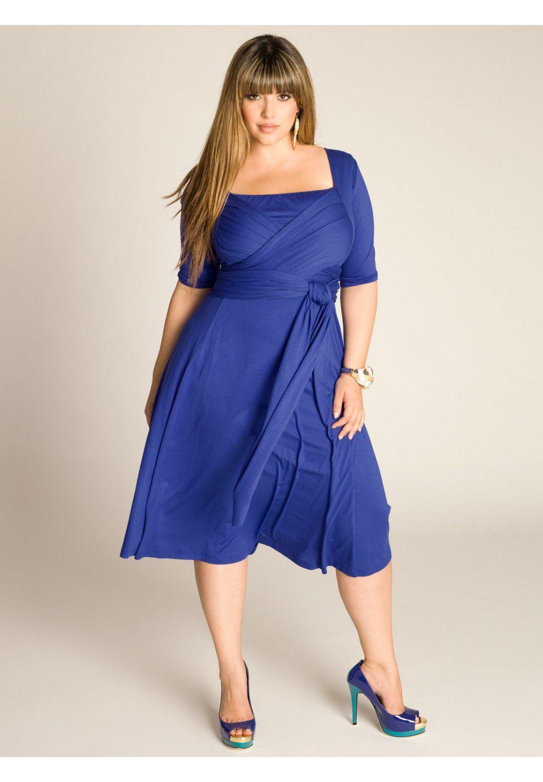 Plus Size Tiffany Dress in Dazzling Blue | Plus Size Work Dresses ...