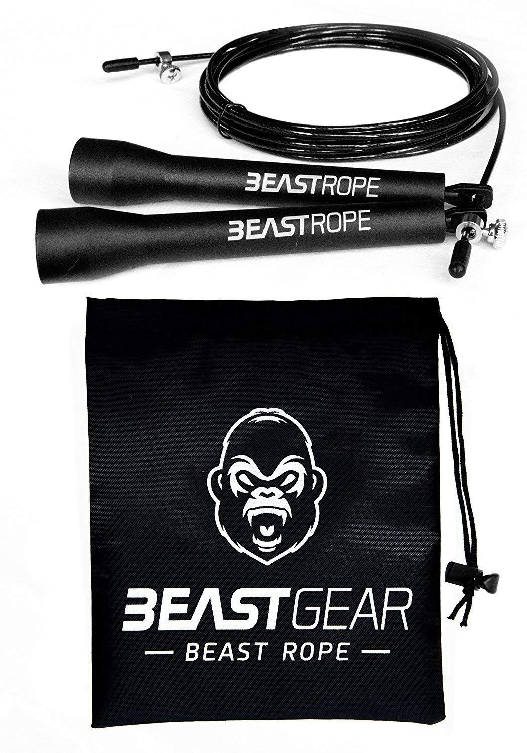 Speed Skipping Rope by Beast Gear – for Fitness 90b6f2e9aeabd