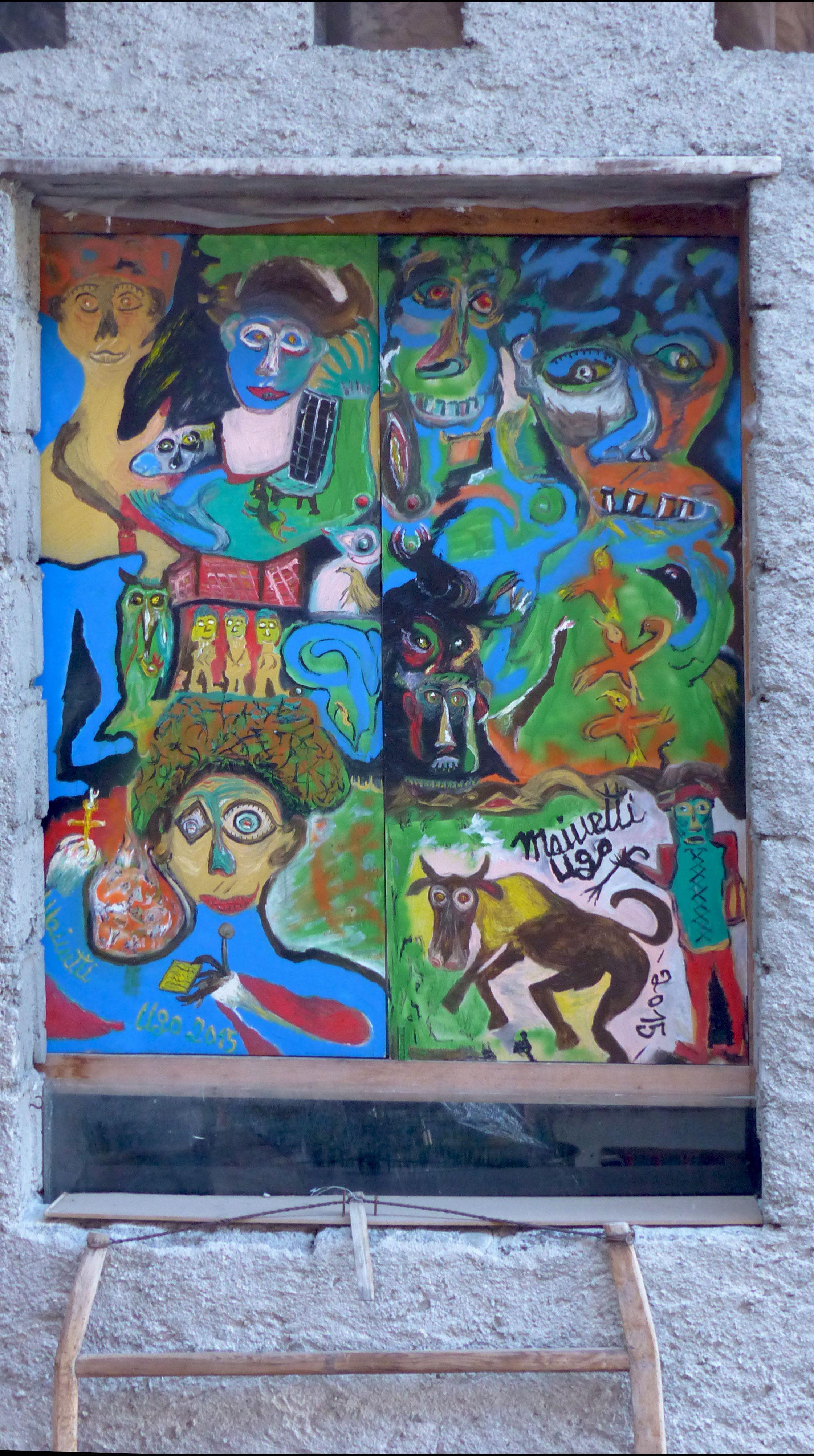 Elegant Malerei Im Innenhof Des Hauses Von Ugo Mainetti In Tirano
