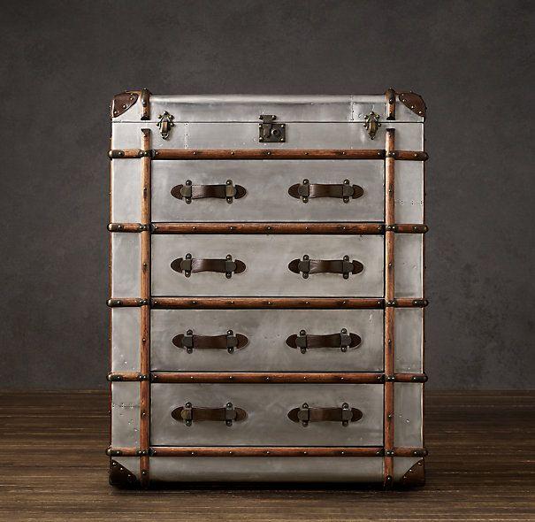 Richards Trunk Large Chest Old Suitcases Restoration Hardware