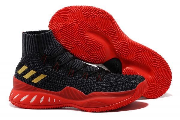 38f183bd5811 adidas Crazy Explosive 2017 Primeknit Black and Red Gold For Sale ...