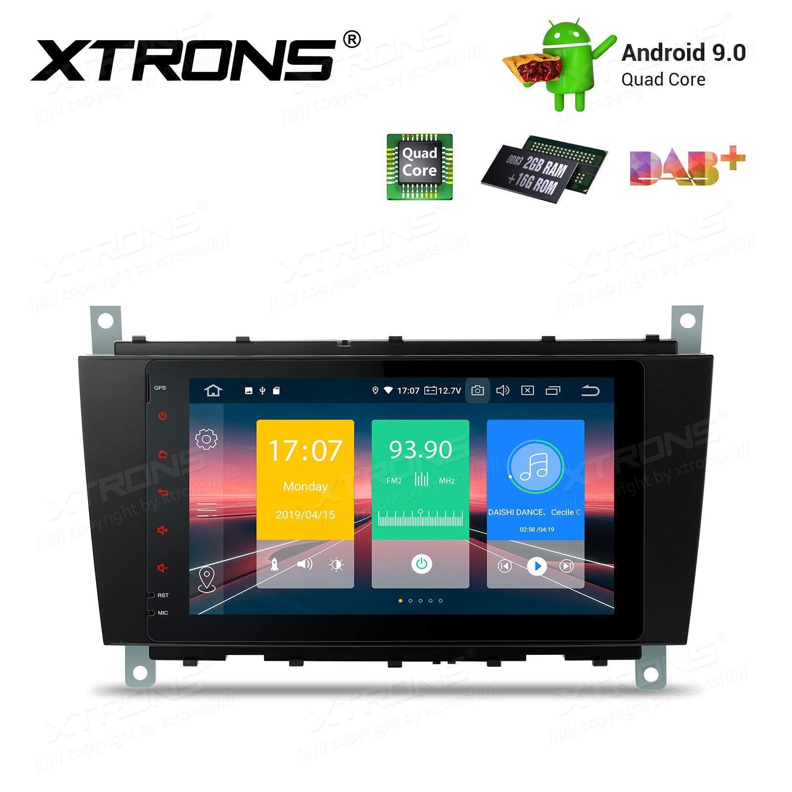 """XTRONS 8"""" Autoradio mit Touch Screen Android 9.0 Quad Core"""