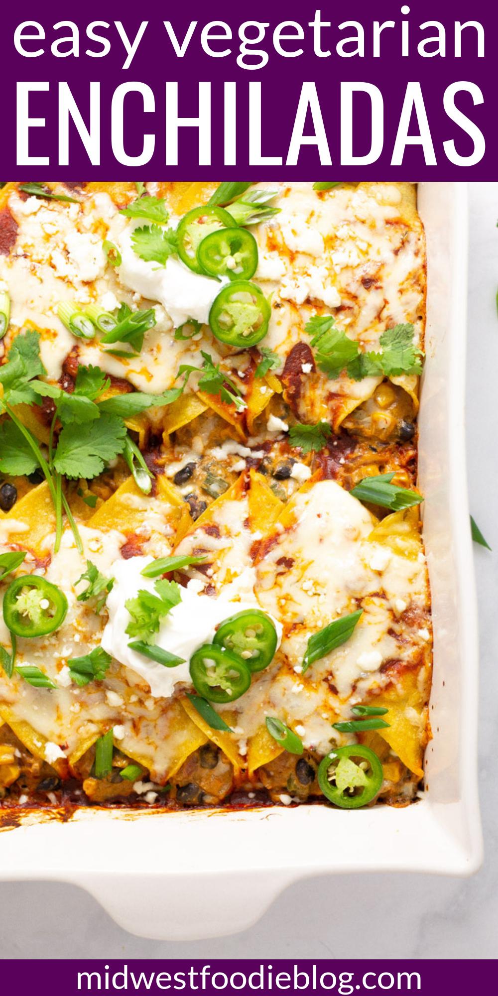 My Favorite Veggie Enchiladas images