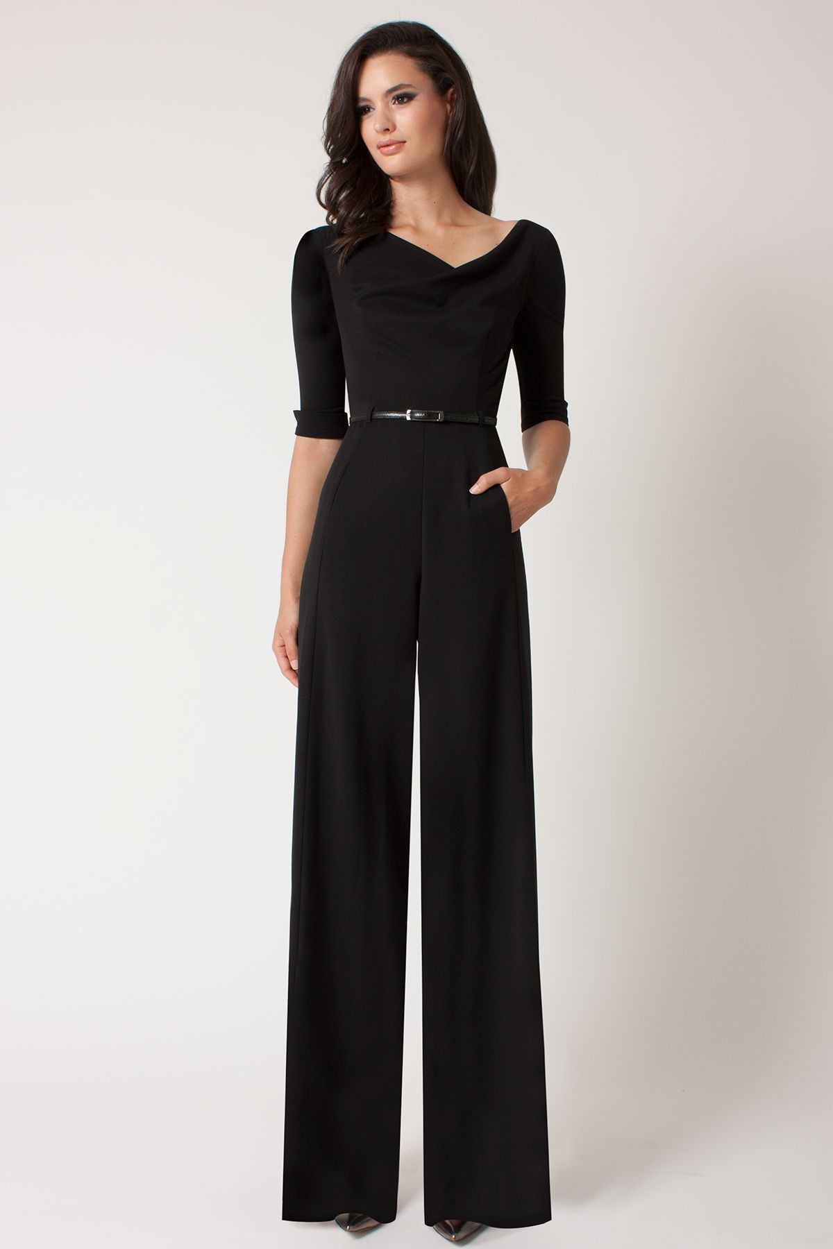 Black Halo 3/4 Sleeve Jackie Jumpsuit $390 | Career Barbie ...