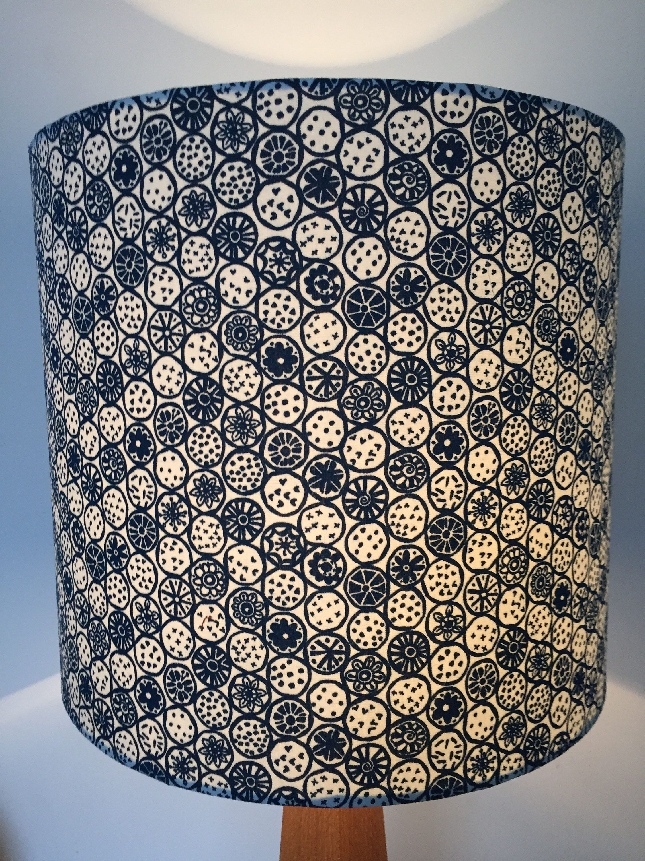 Blue and white cut fruit patterned lampshade fruit pattern lamp blue and white cut fruit patterned lampshade by lightfromshade on etsy aloadofball Choice Image