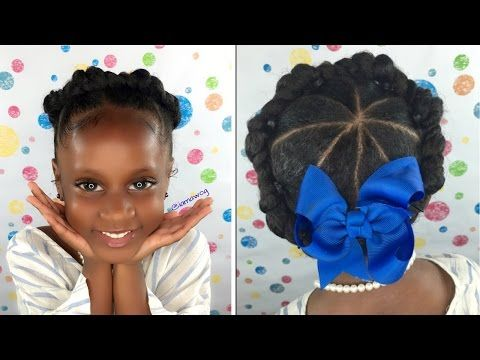Childrens Hairstyles For School In : Crown halo twist kids natural hair back to school hairstyles