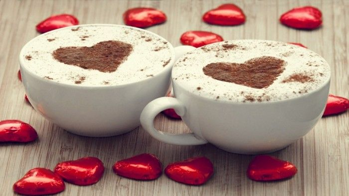 Guten Morgen Kaffee Herz