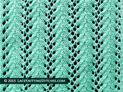 Lace Knitting 14 Fern Lace Stitch Skill Easy Knitting