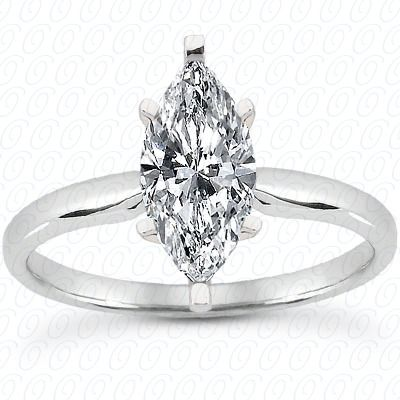 Beautiful Marquise Solitaire Ring From Unique Settings Of