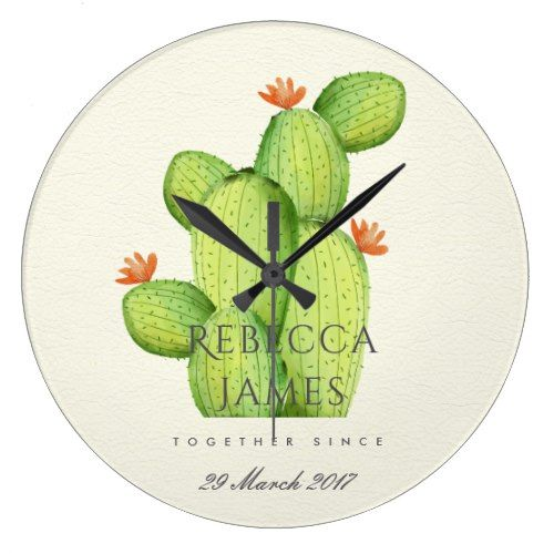 Sentimental Wedding Gift Ideas: GREEN WATERCOLOUR DESERT CACTUS SAVE THE DATE GIFT LARGE