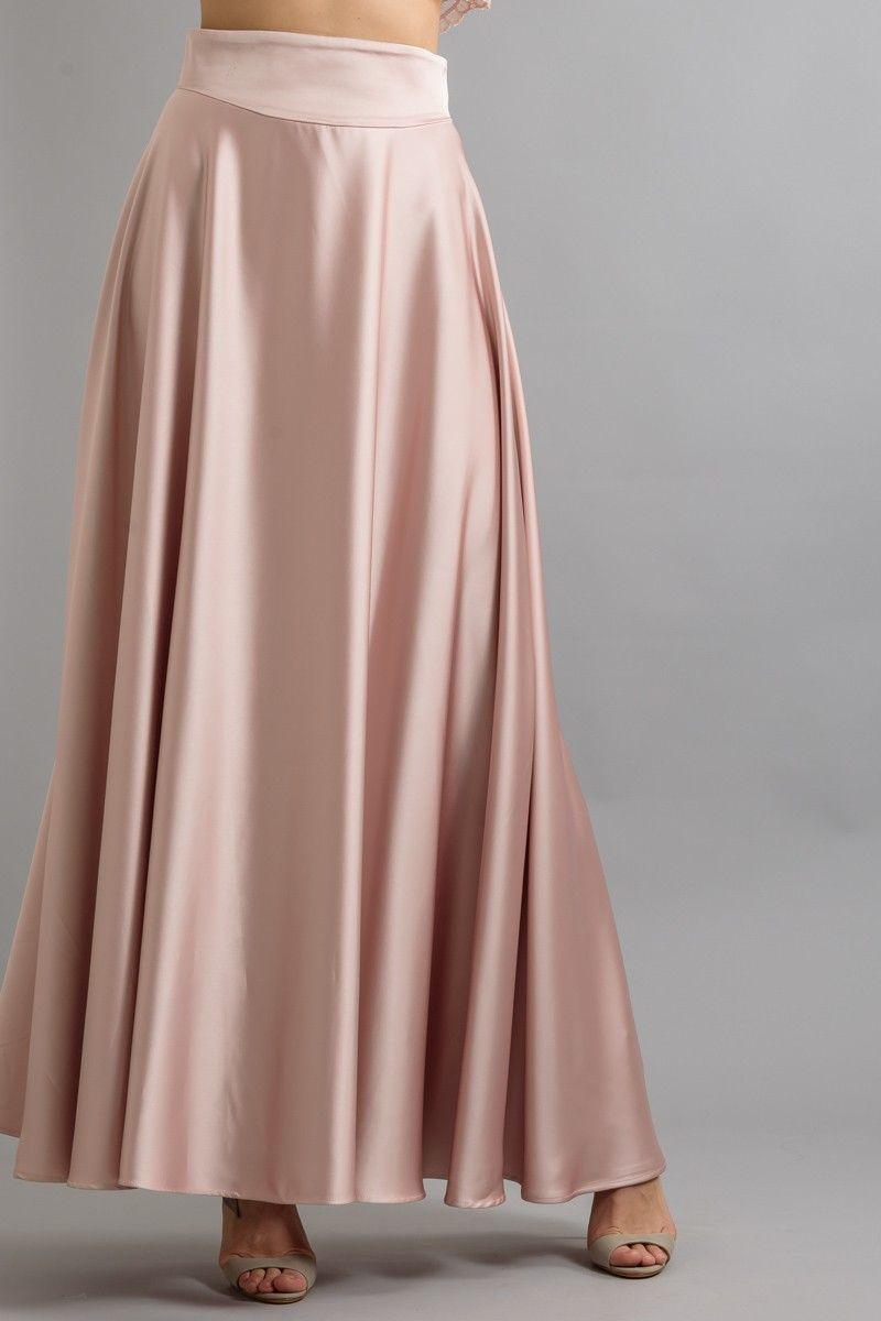 858c8a62571 ΦΟΥΣΤΑ ΜΑΞΙ ΣΑΤΕΝ - Φούστες - Ένδυση | STYLING | Skirts, Fashion και ...
