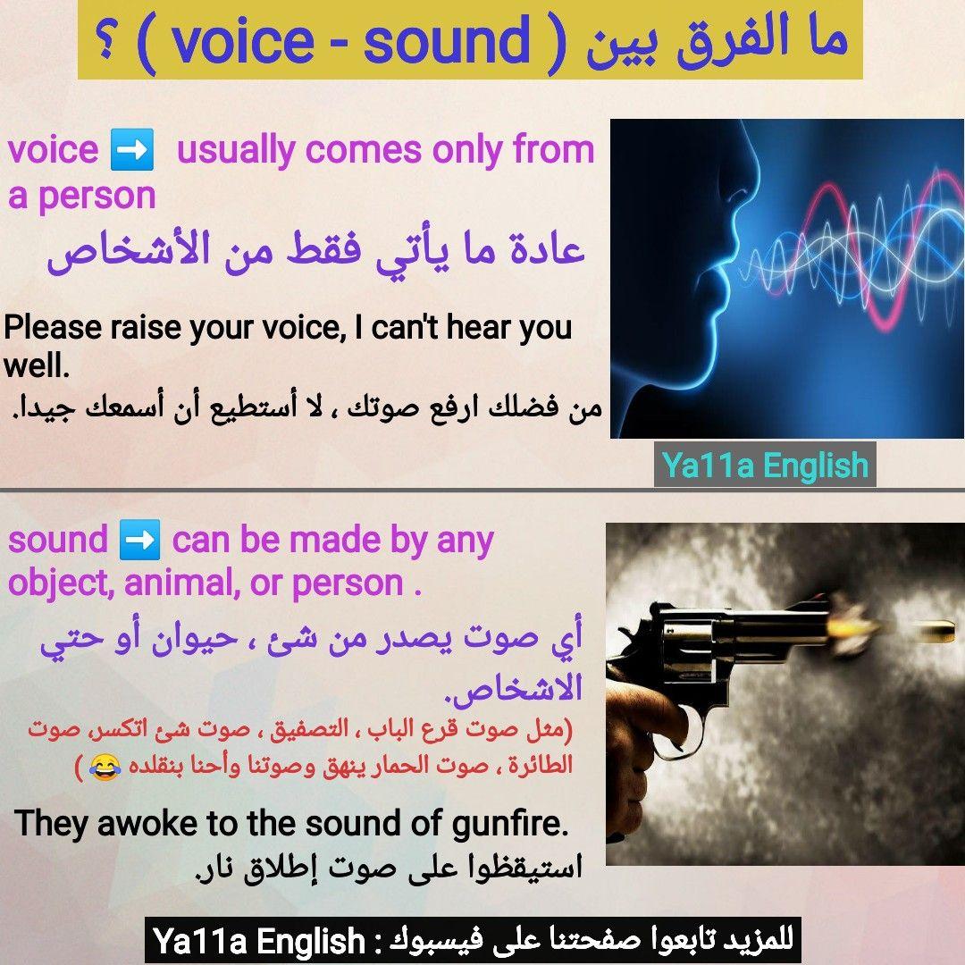 الفرق بين Sound Voice