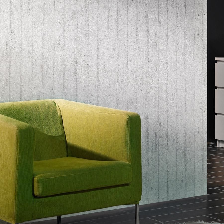 Concrete Slab\' Textured effect Wallpaper in Grey realistic concrete ...