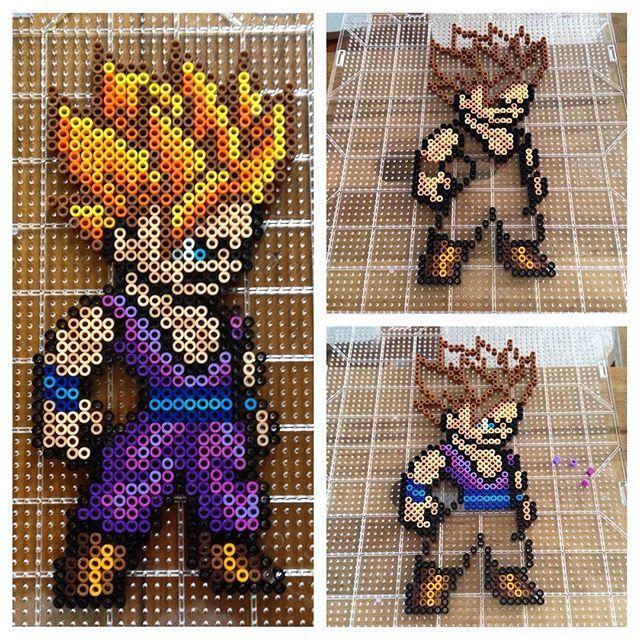 Ssj Gohan Dragon Ball Perler Beads By Mastablasta3 Pixel